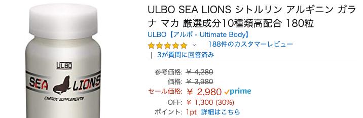 ULBO SEA LIONS(アルボシーライオン)